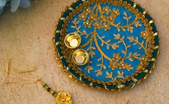 buy 24k gold foil rakhi box